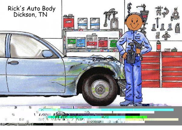 193-FF Auto Body, Male - Dark Skin