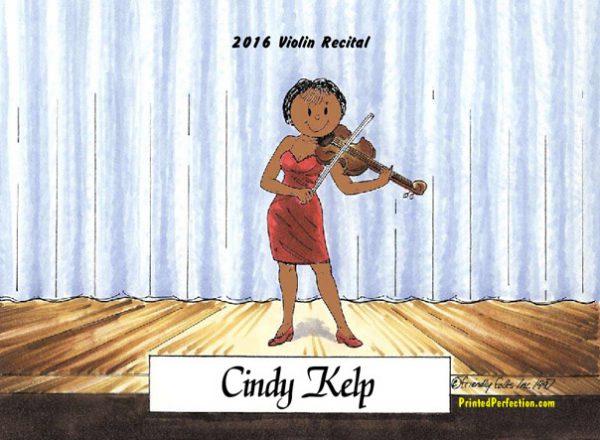 206-FF Violin Player, Female - Dark Skin