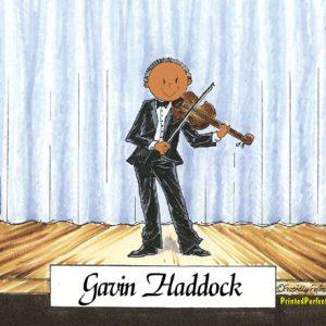207-FF Violin Player, Male - Dark Skin