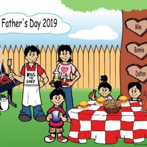 210b-NTT Family Backyard Barbeque 1 boy 2 girls