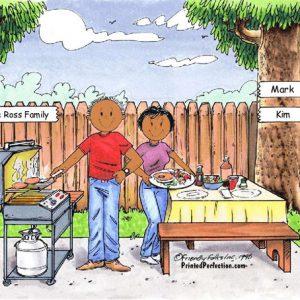 210d-NTT Family Backyard Barbeque 1 girl - Dark Skin