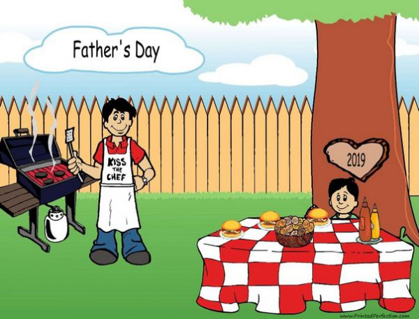210l-NTT Family Backyard Barbeque Single Dad 1 boy