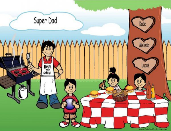 210n-NTT Family Backyard Barbeque Single Dad 2 boys, 1 girl