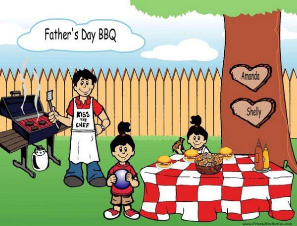 210q-NTT Family Backyard Barbeque Single Dad 2 girls