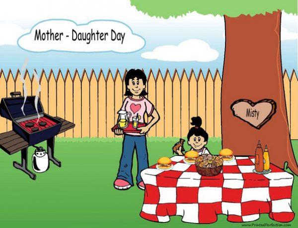 210w-NTT Family Backyard Barbeque Single Mom 1 girl