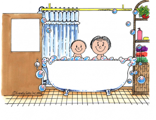 216-FF Tub Time, One Child with Mom
