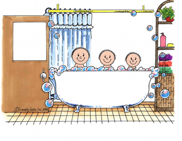 220-FF Tub Time, Three Children