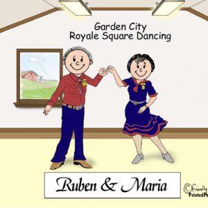 381-FF Square Dance Couple