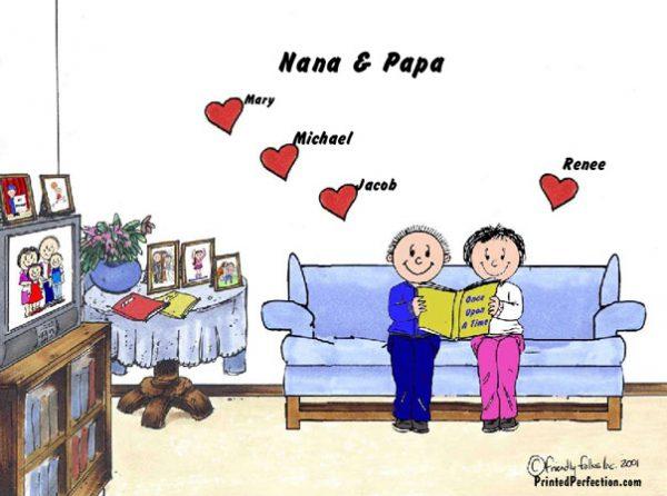 384-FF Grandma & Grandpa, 4 Hearts