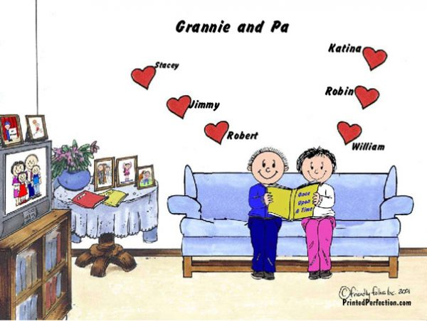 386-FF Grandma & Grandpa, 6 Hearts