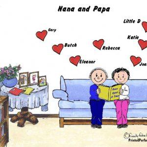 387-FF Grandma & Grandpa, 7 Hearts