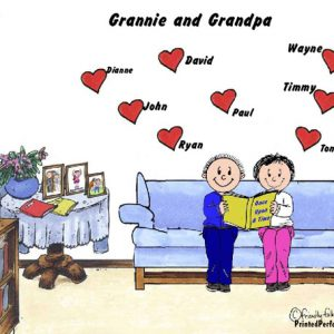388-FF Grandma & Grandpa, 8 Hearts