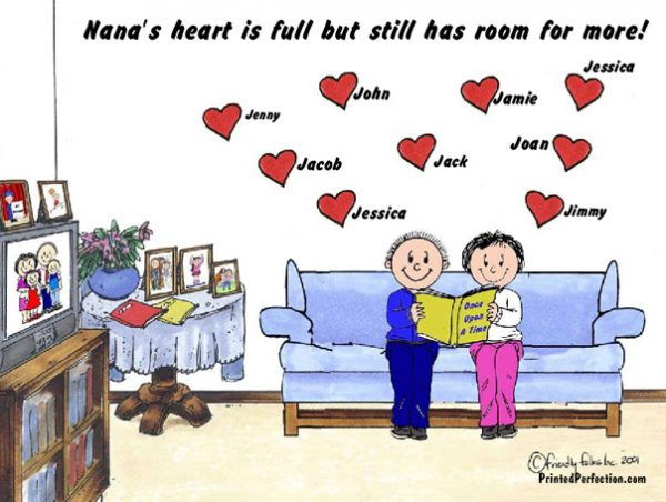 389-FF Grandma & Grandpa, 9 Hearts