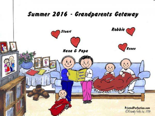 392-FF Grandma & Grandpa, 3 Children