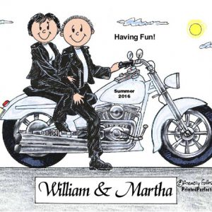 420-FF Motorcycle Couple