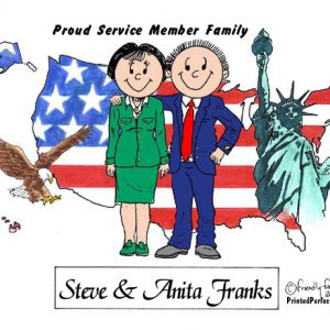 433-FF Patriotic Couple