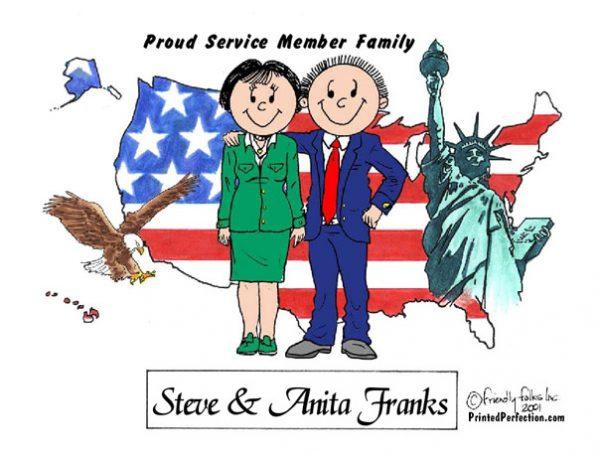 433-FF Patriotic Couple