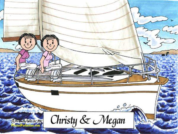 454-FF Sailing Friends, Female & Female