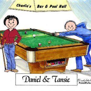 475-FF Billiards, Pool Player Couple