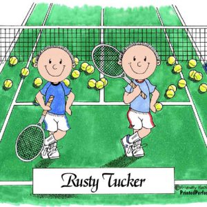 479-FF Tennis Players, Male & Male