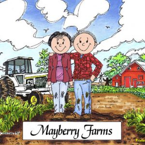 494-FF Farmer Couple, White Tractor