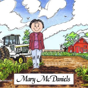 495-FF Farmer, Female, White Tractor