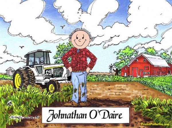 496-FF Farmer, Male, White Tractor