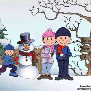 499-FF Snowman Family, 1 Boy