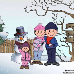 500-FF Snowman Family, 1 Girl
