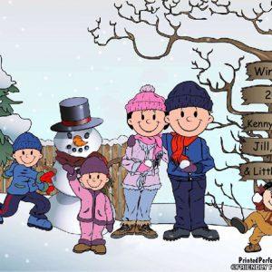 502-FF Snowman Family, 1 Boy, 2 Girls