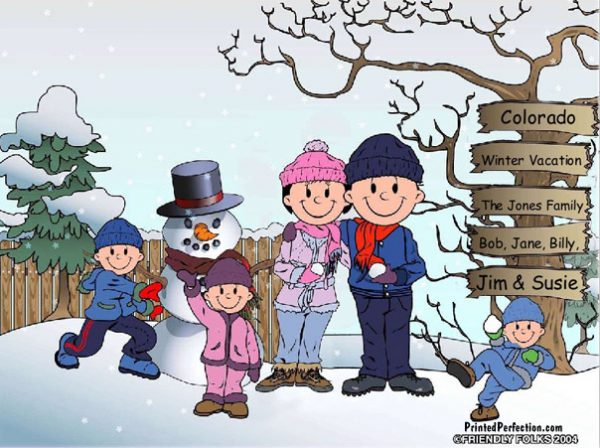 503-FF Snowman Family, 2 Boys, 1 Girl