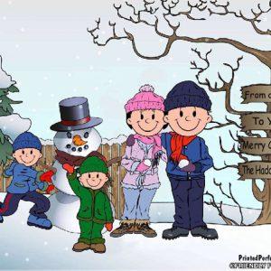 504-FF Snowman Family, 2 Boys