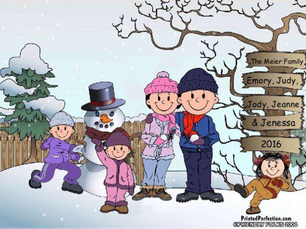 506-FF Snowman Family, 3 Girls