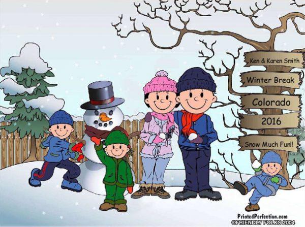 507-FF Snowman Family, 3 Boys
