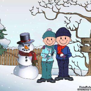 508-FF Snowman Family, Male & Male