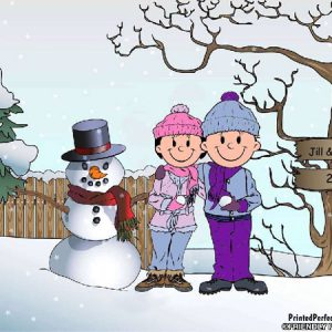 509-FF Snowman Family, Female & Female