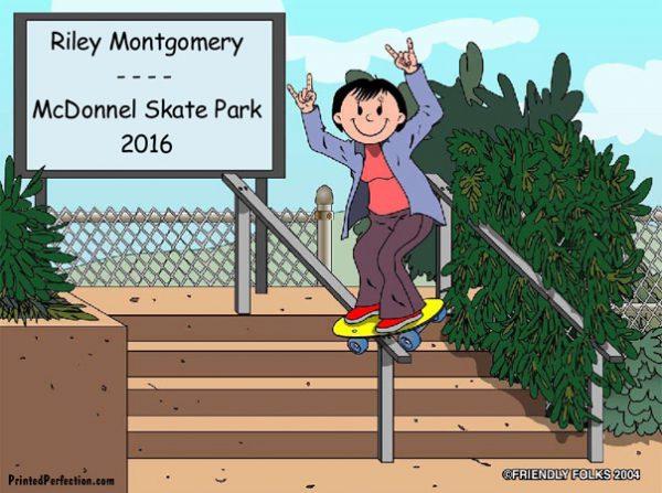 516-NTT Skateboarder, Female