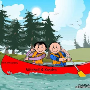 523-FF Canoe Couple