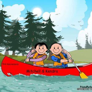 523-FF Canoe Couple
