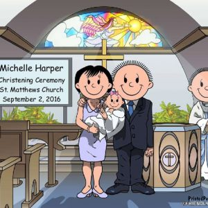 528-NTT Baptism, Couple, Female Baby