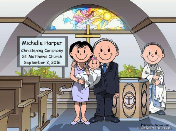 528-NTT Baptism, Couple, Female Baby
