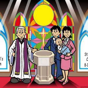 529-NTT Baptism, Couple, Male Baby