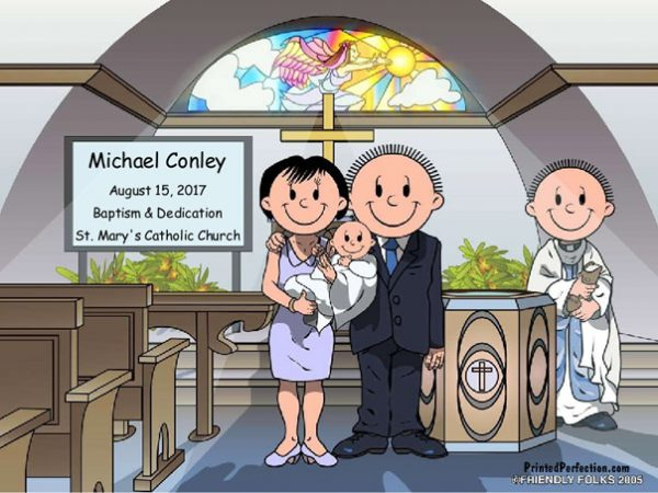 529-NTT Baptism, Couple, Male Baby