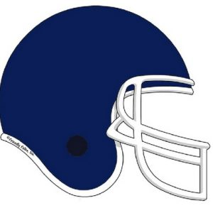 851-FF Football Helmet, Dark Blue