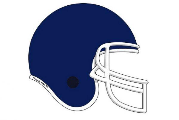 851-FF Football Helmet, Dark Blue