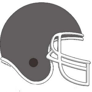 853-FF Football Helmet, Grey