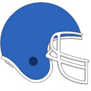 854-FF Football Helmet, Light Blue