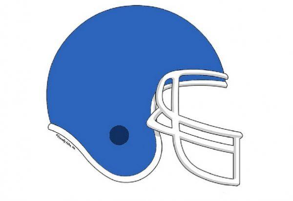 854-FF Football Helmet, Light Blue