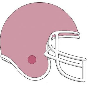 855-FF Football Helmet, Mauve