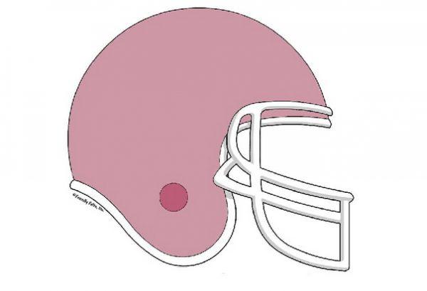 855-FF Football Helmet, Mauve